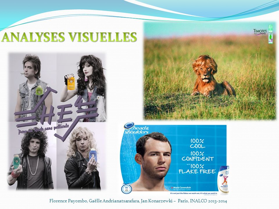 ANALYSES VISUELLES Florence Payombo, Gaëlle Andrianatsarafara, Jan Konarzewki – Paris, INALCO 2013-2014.