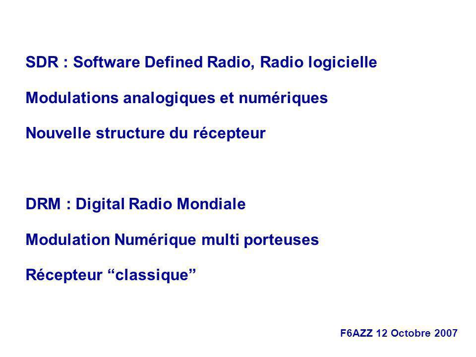 SDR : Software Defined Radio, Radio logicielle