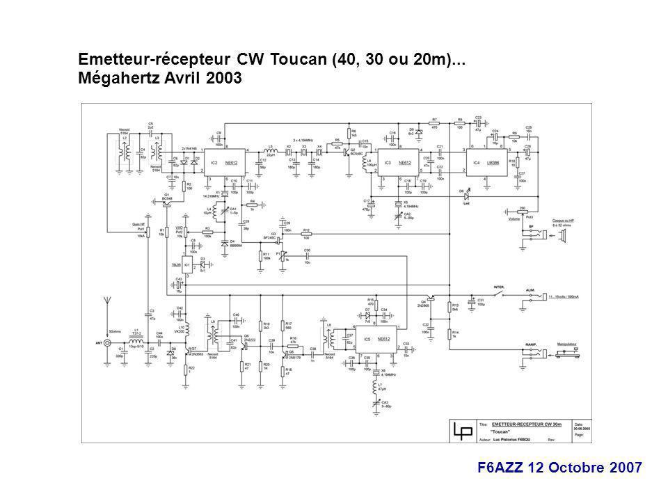 Emetteur-récepteur CW Toucan (40, 30 ou 20m)...