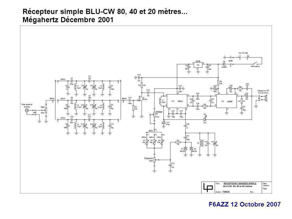 Récepteur simple BLU-CW 80, 40 et 20 mètres...