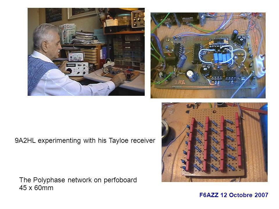9A2HL experimenting with his Tayloe receiver