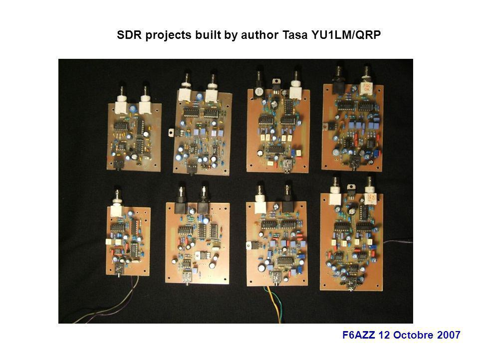 SDR projects built by author Tasa YU1LM/QRP