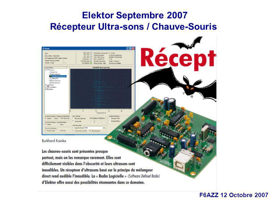 Récepteur Ultra-sons / Chauve-Souris
