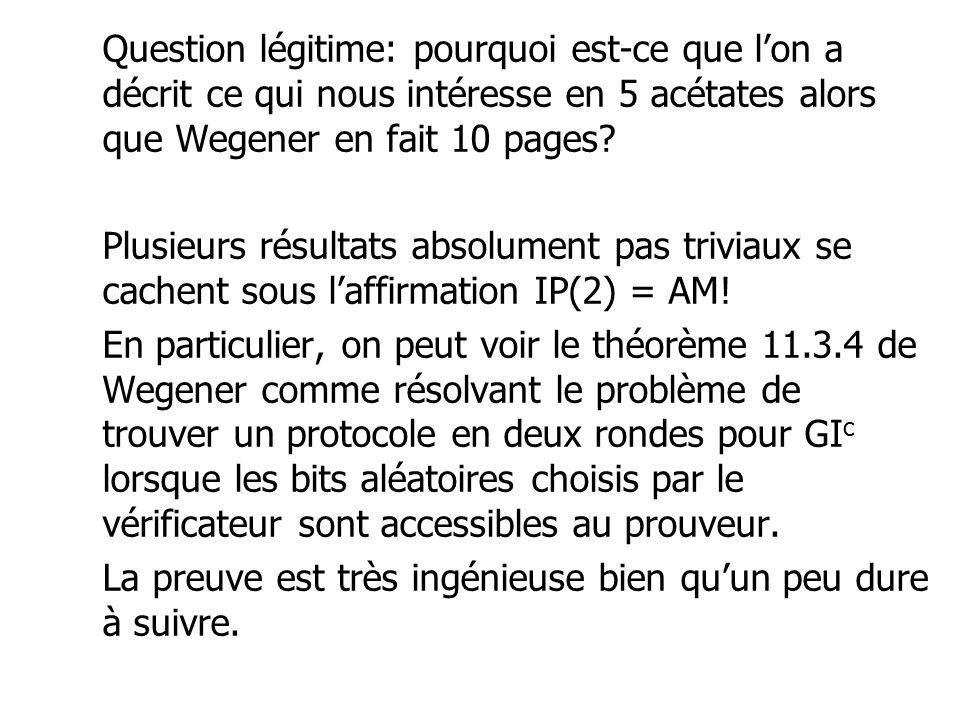 Question légitime: pourquoi est-ce que l'on a décrit ce qui nous intéresse en 5 acétates alors que Wegener en fait 10 pages