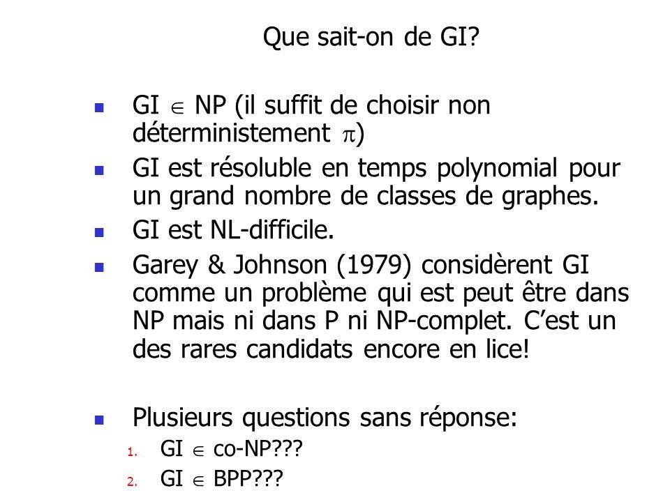 GI  NP (il suffit de choisir non déterministement )