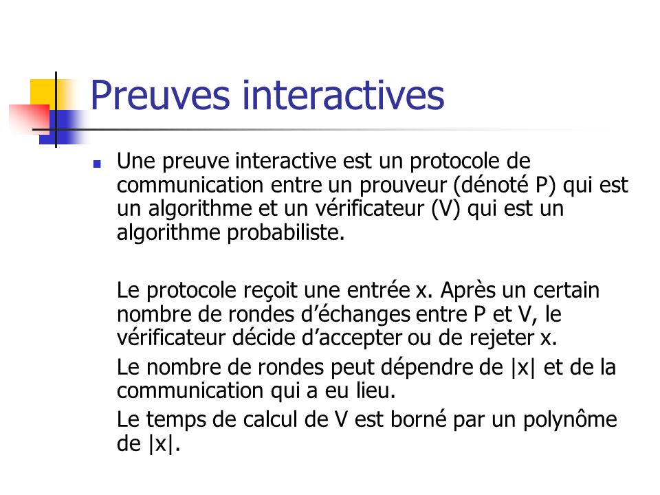 Preuves interactives