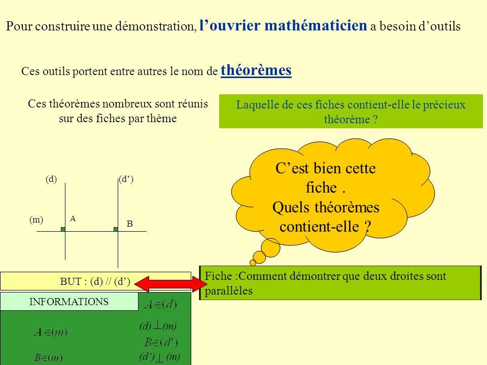Quels théorèmes contient-elle