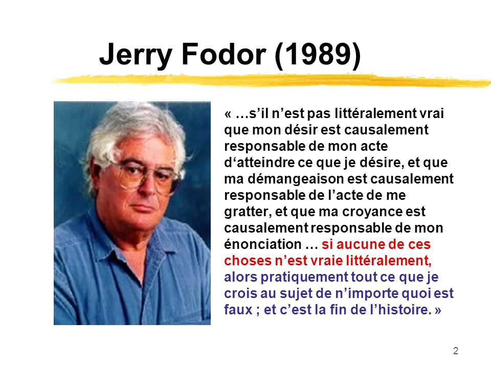 Jerry Fodor (1989)