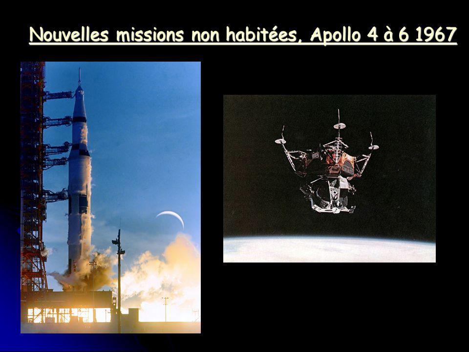 Nouvelles missions non habitées, Apollo 4 à 6 1967