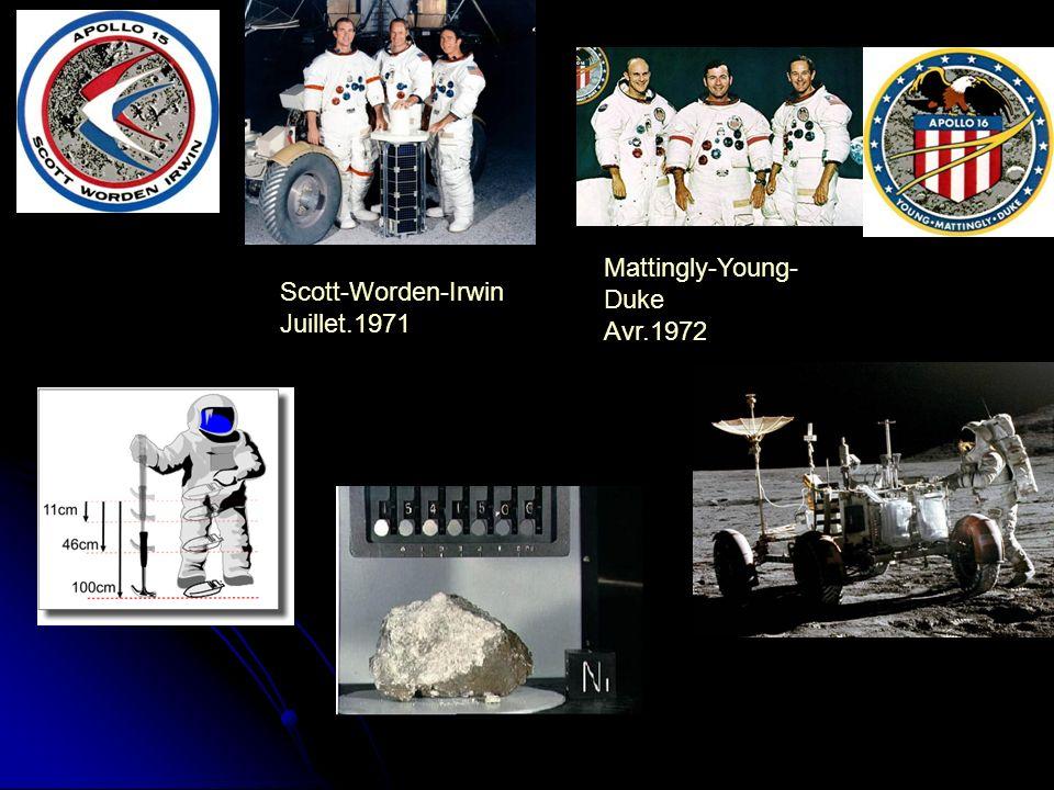 Mattingly-Young-Duke Avr.1972 Scott-Worden-Irwin Juillet.1971