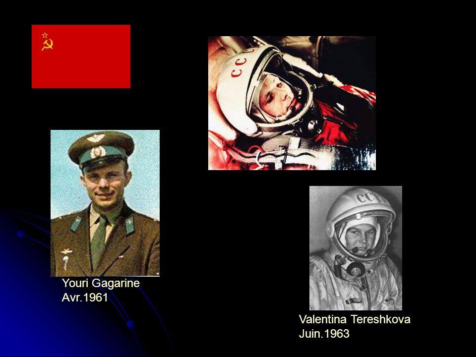 Youri Gagarine Avr.1961 Valentina Tereshkova Juin.1963