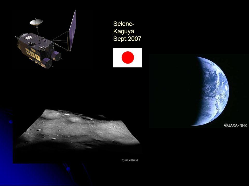 Selene-Kaguya Sept.2007. SELENE (SELenological and ENgineering Explorer ) lanceur H-2A 2 orbiteurs Rstar and Vstar, Okina and Ouna.