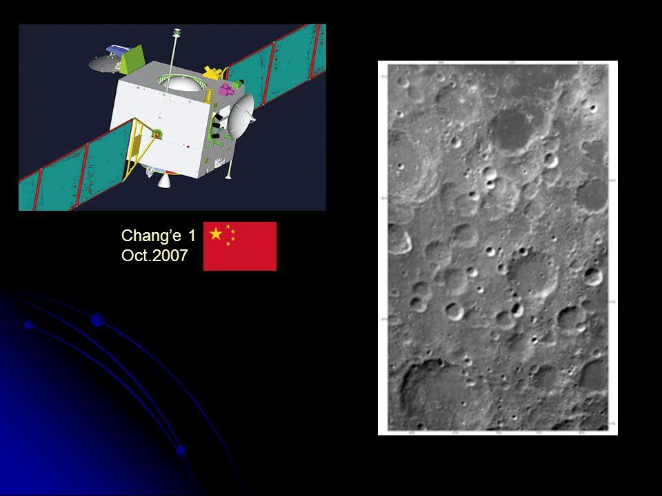 Chang'e 1 Oct.2007. CHANG'E 1 (nom déesse de la Lune) lanceur CHANG-ZHENG 4. Obj: cartographie, modélisation 3D région Lunaire.