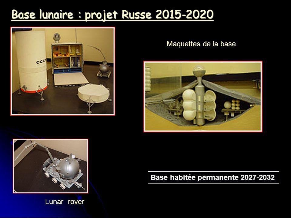 Base lunaire : projet Russe 2015-2020