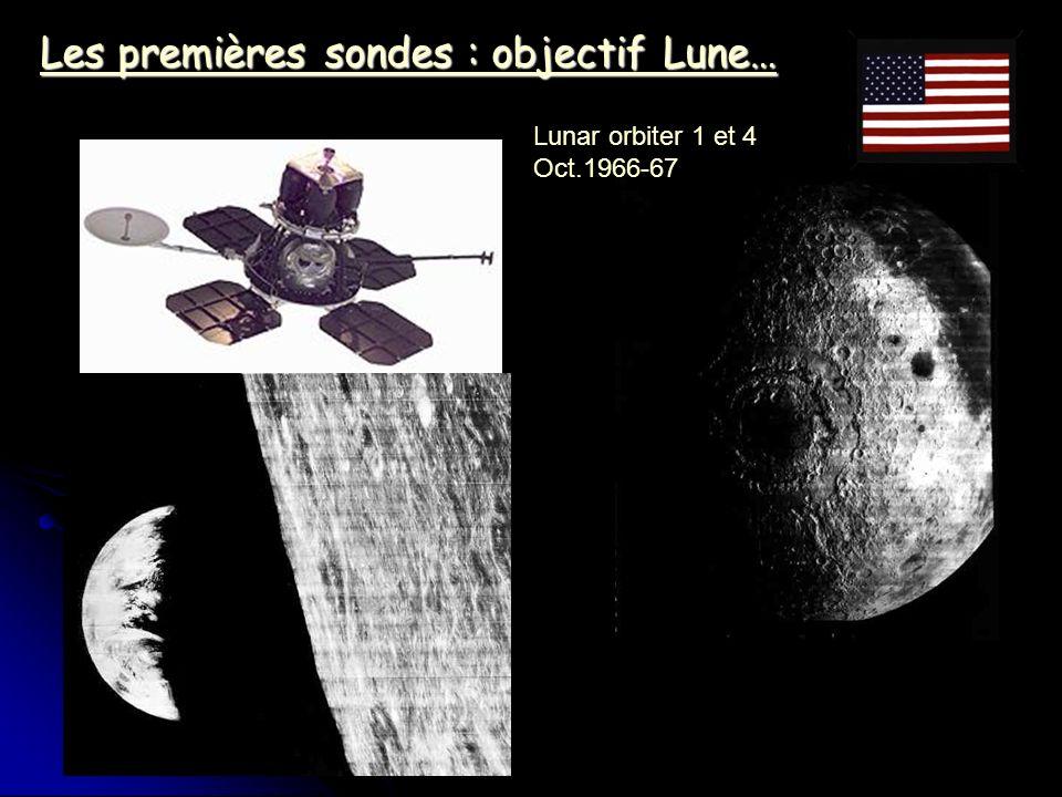 Les premières sondes : objectif Lune…