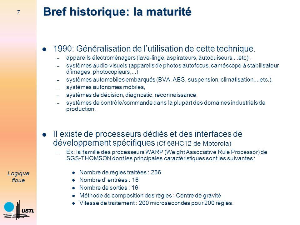 Bref historique: la maturité
