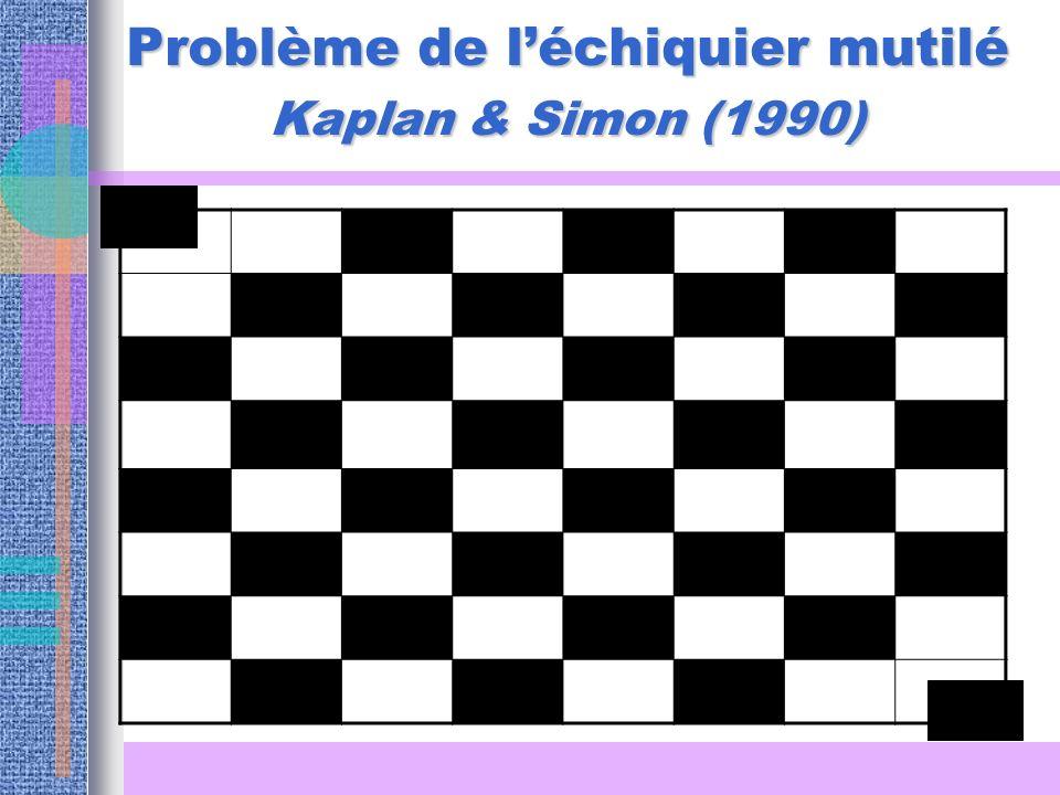 Problème de l'échiquier mutilé Kaplan & Simon (1990)