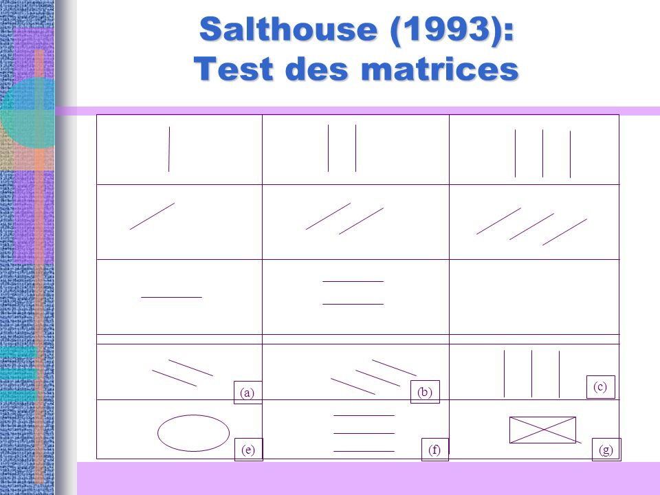 Salthouse (1993): Test des matrices