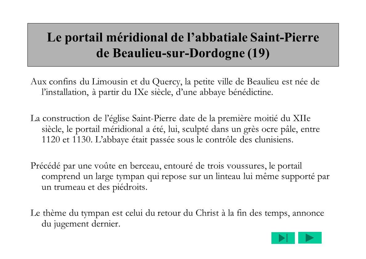 Le portail méridional de l'abbatiale Saint-Pierre de Beaulieu-sur-Dordogne (19)