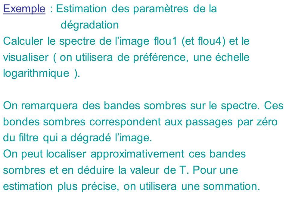 Exemple : Estimation des paramètres de la
