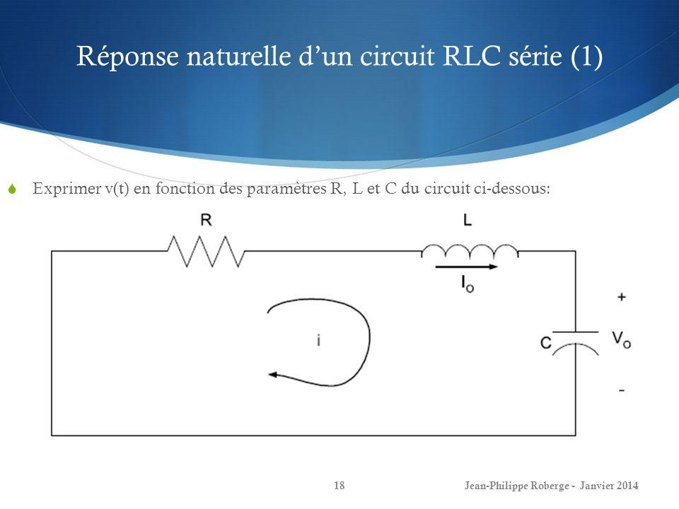 Réponse naturelle d'un circuit RLC série (1)