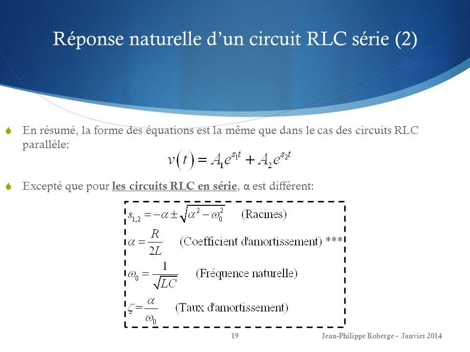 Réponse naturelle d'un circuit RLC série (2)