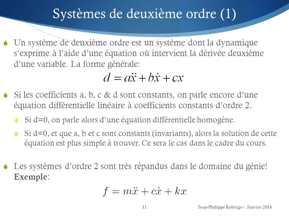 Systèmes de deuxième ordre (1)