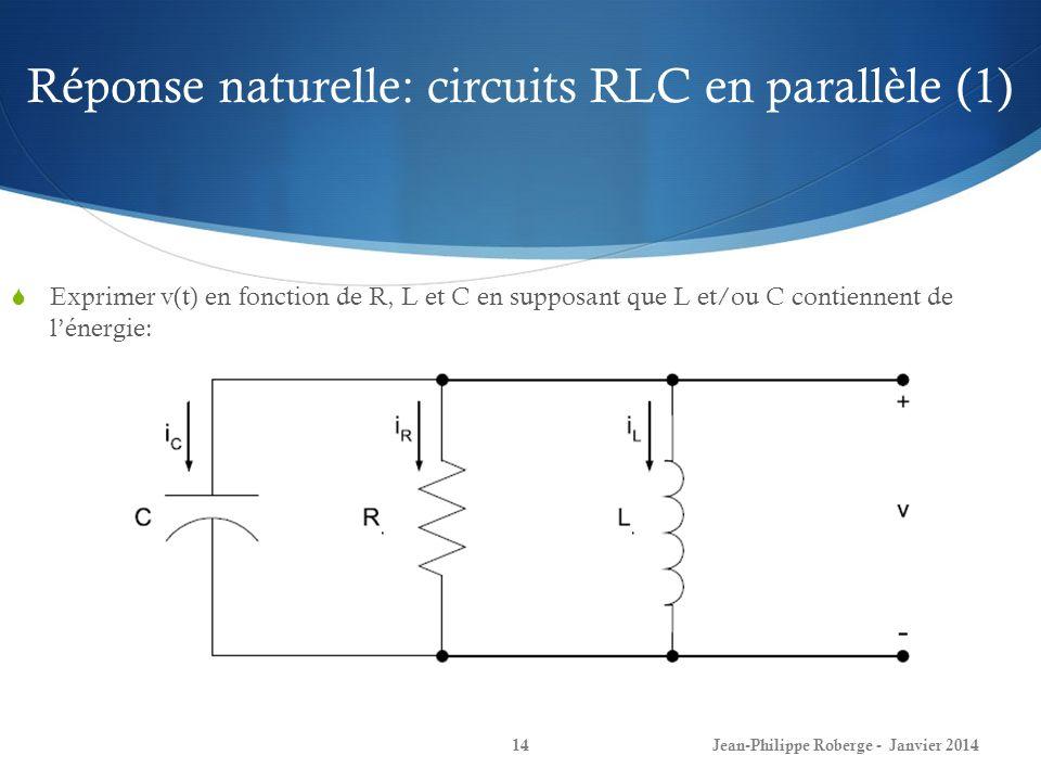 Réponse naturelle: circuits RLC en parallèle (1)
