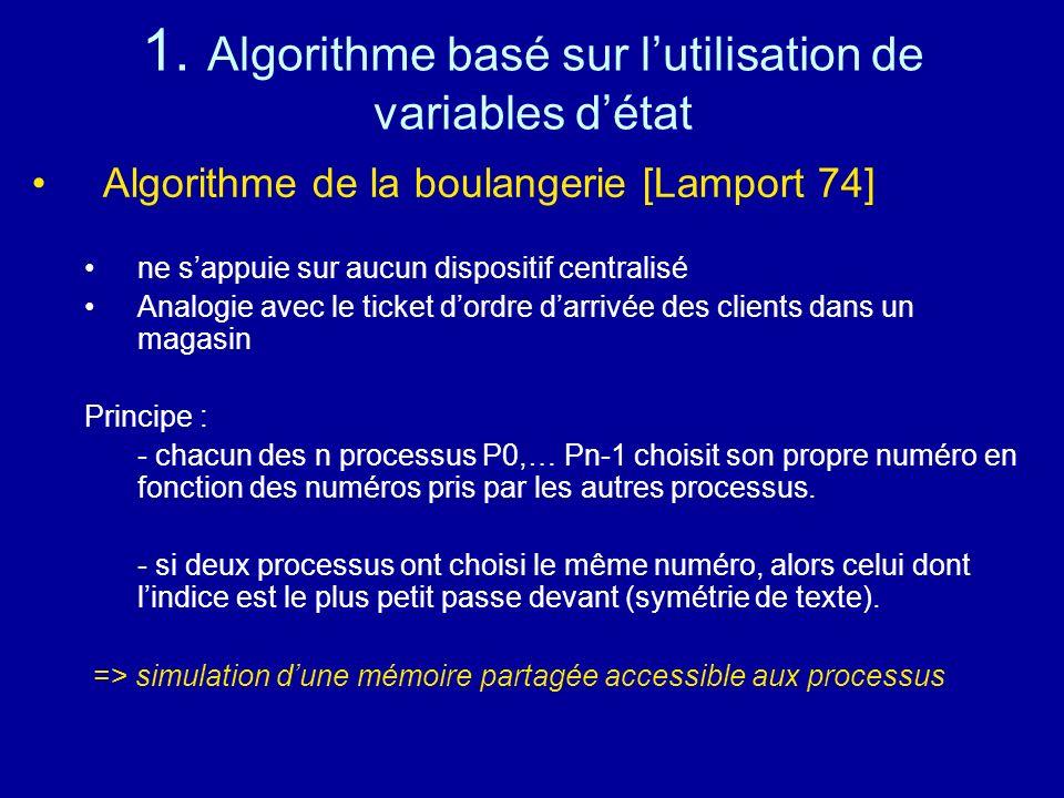1. Algorithme basé sur l'utilisation de variables d'état