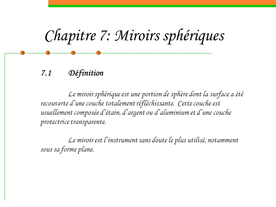 Chapitre 7 miroirs sph riques ppt video online t l charger for Miroir definition