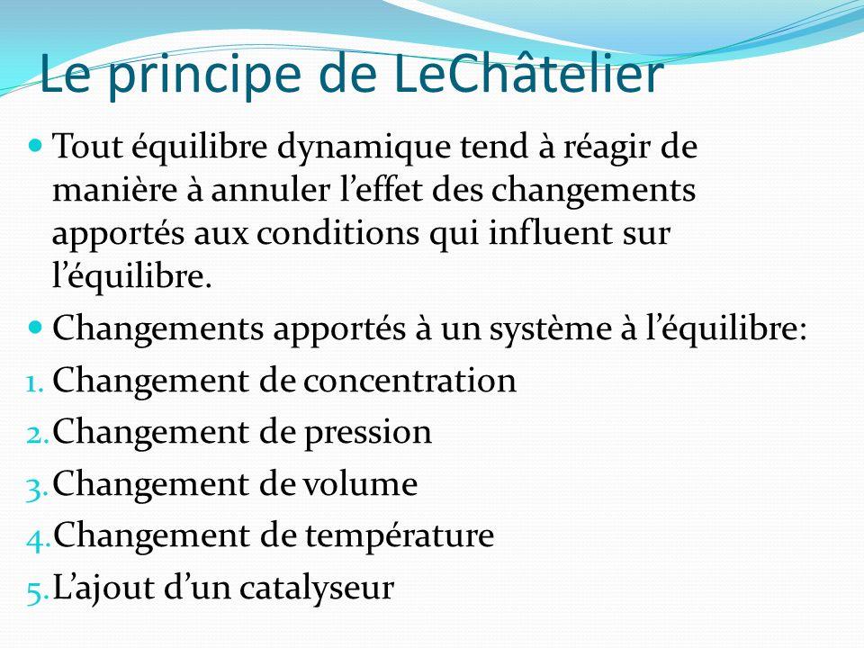 Le principe de LeChâtelier