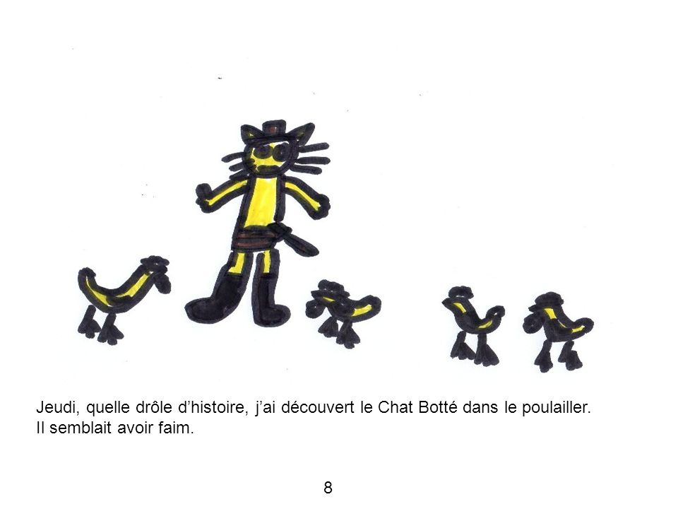 Jeudi, quelle drôle d'histoire, j'ai découvert le Chat Botté dans le poulailler.