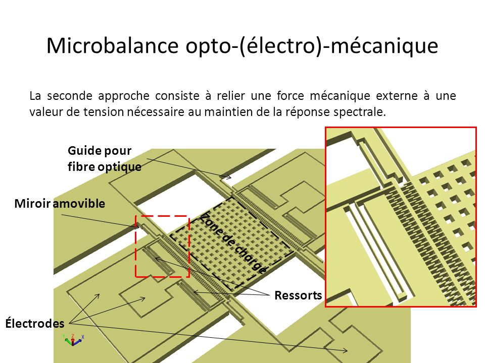 Microbalance opto-(électro)-mécanique
