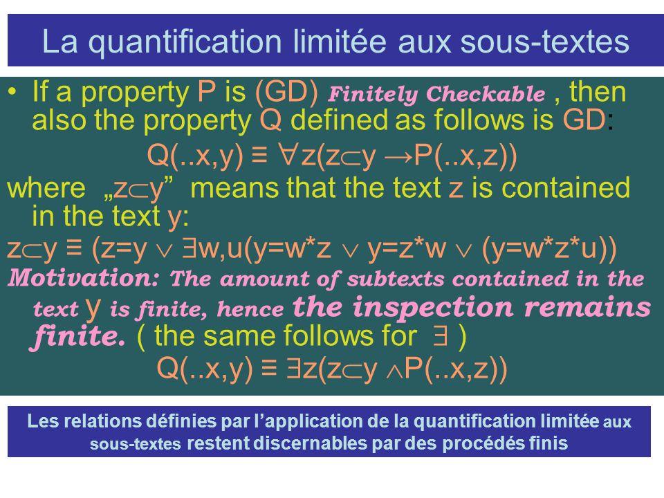 La quantification limitée aux sous-textes