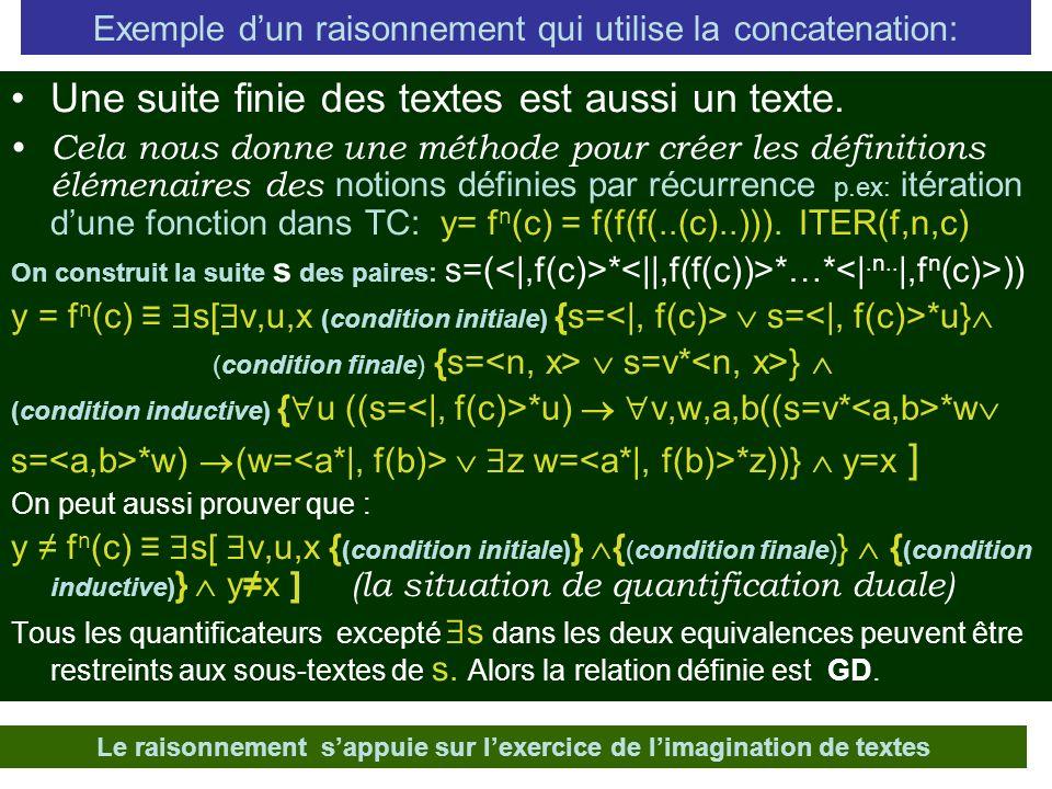 Exemple d'un raisonnement qui utilise la concatenation: