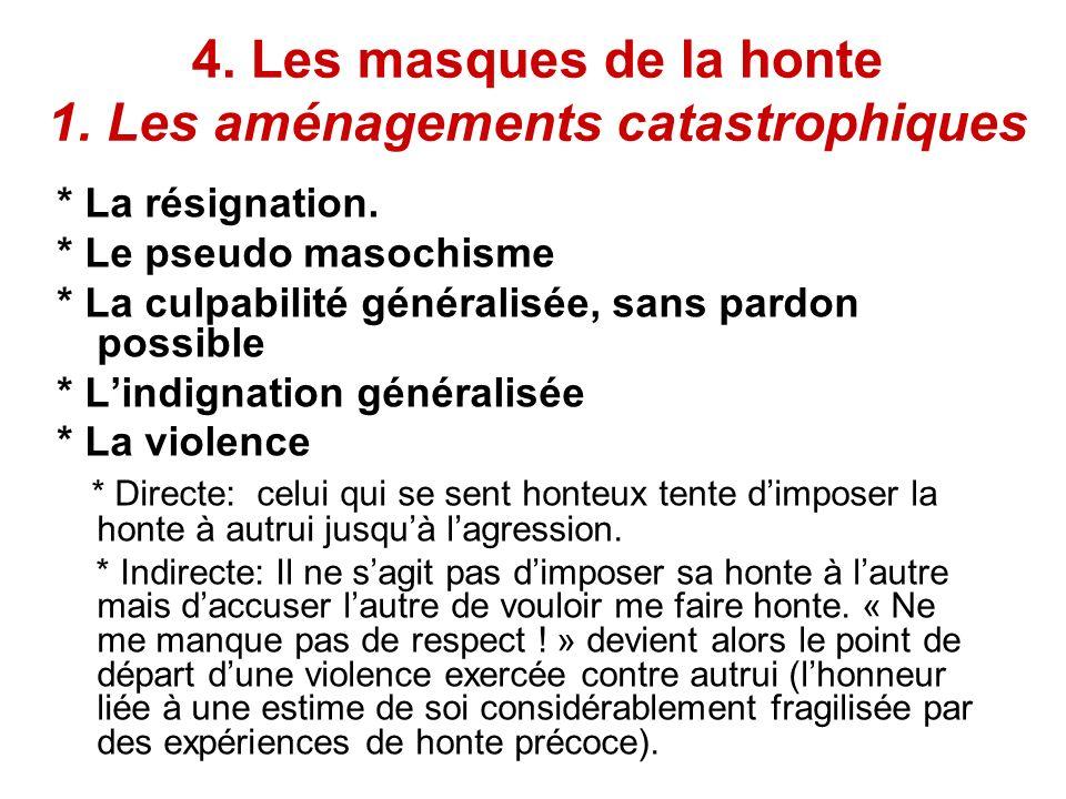 4. Les masques de la honte 1. Les aménagements catastrophiques