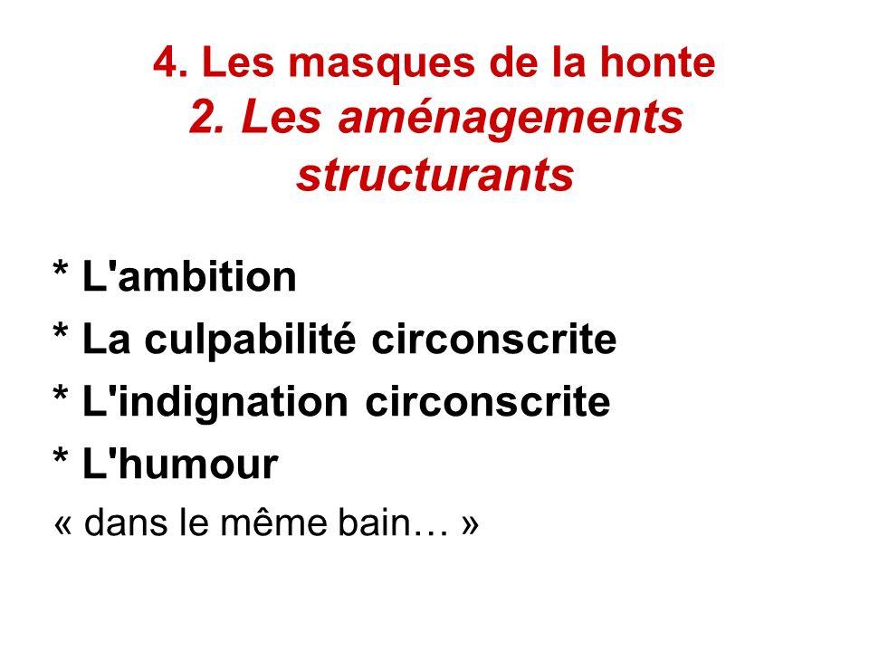 4. Les masques de la honte 2. Les aménagements structurants