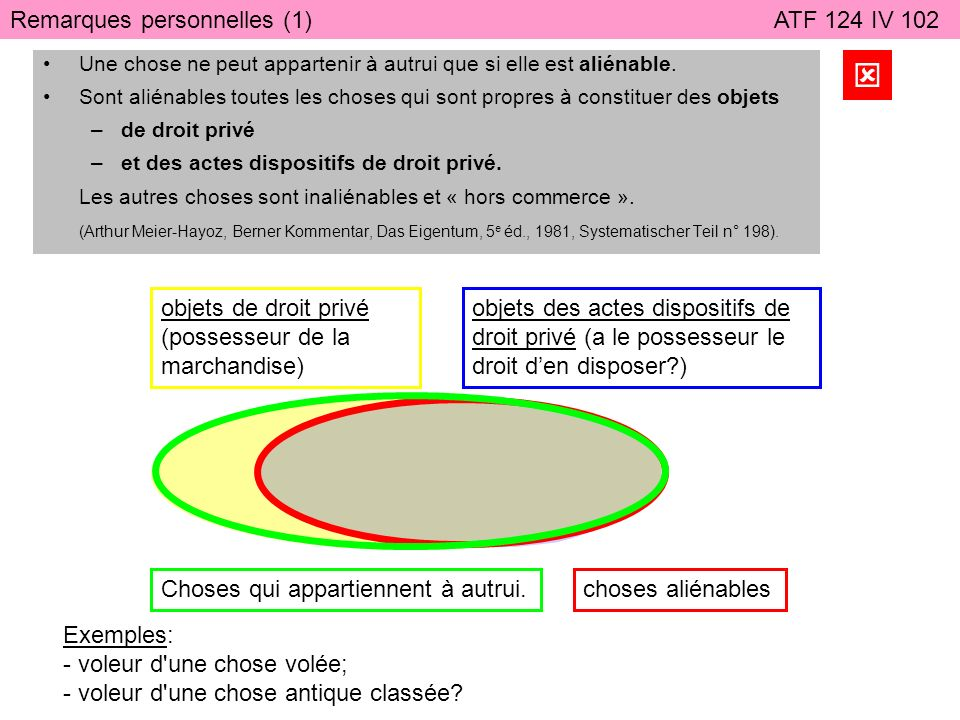  Remarques personnelles (1) ATF 124 IV 102