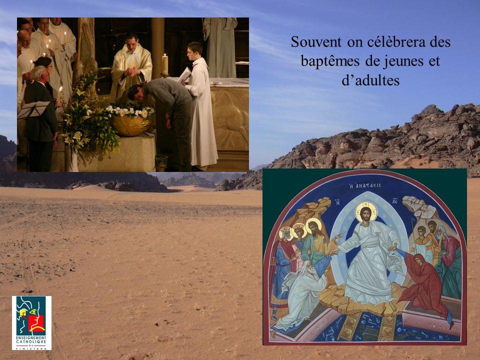 Souvent on célèbrera des baptêmes de jeunes et d'adultes