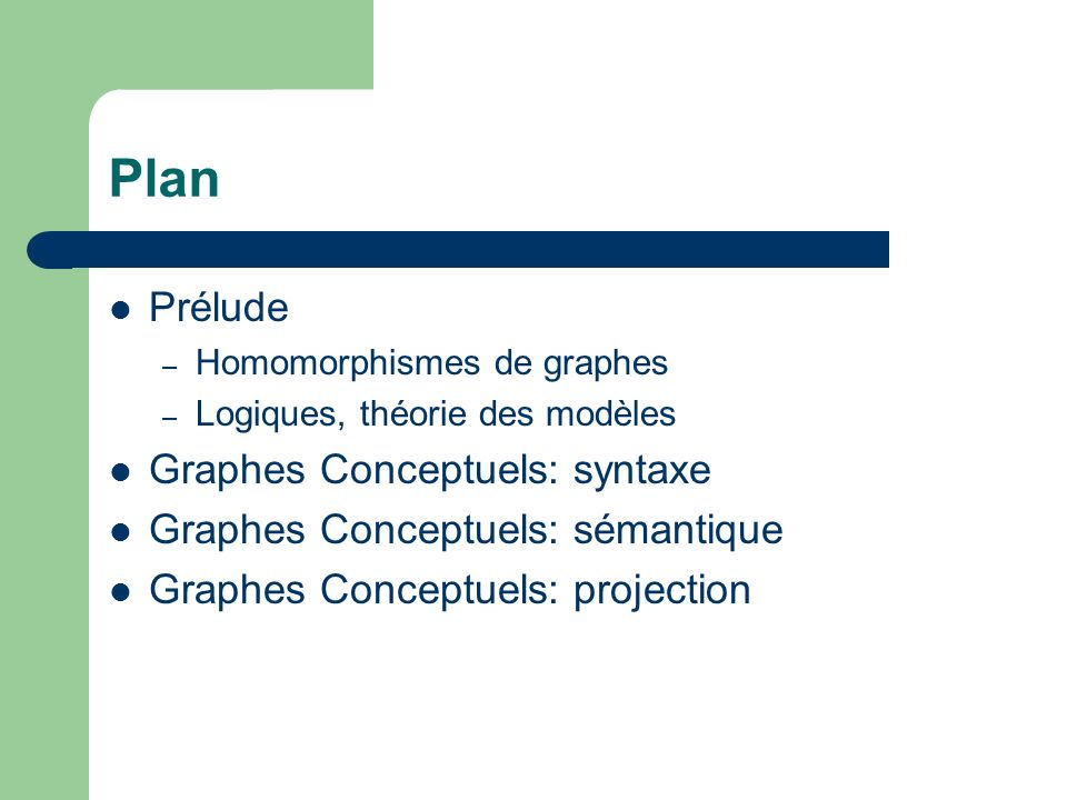 Plan Prélude Graphes Conceptuels: syntaxe