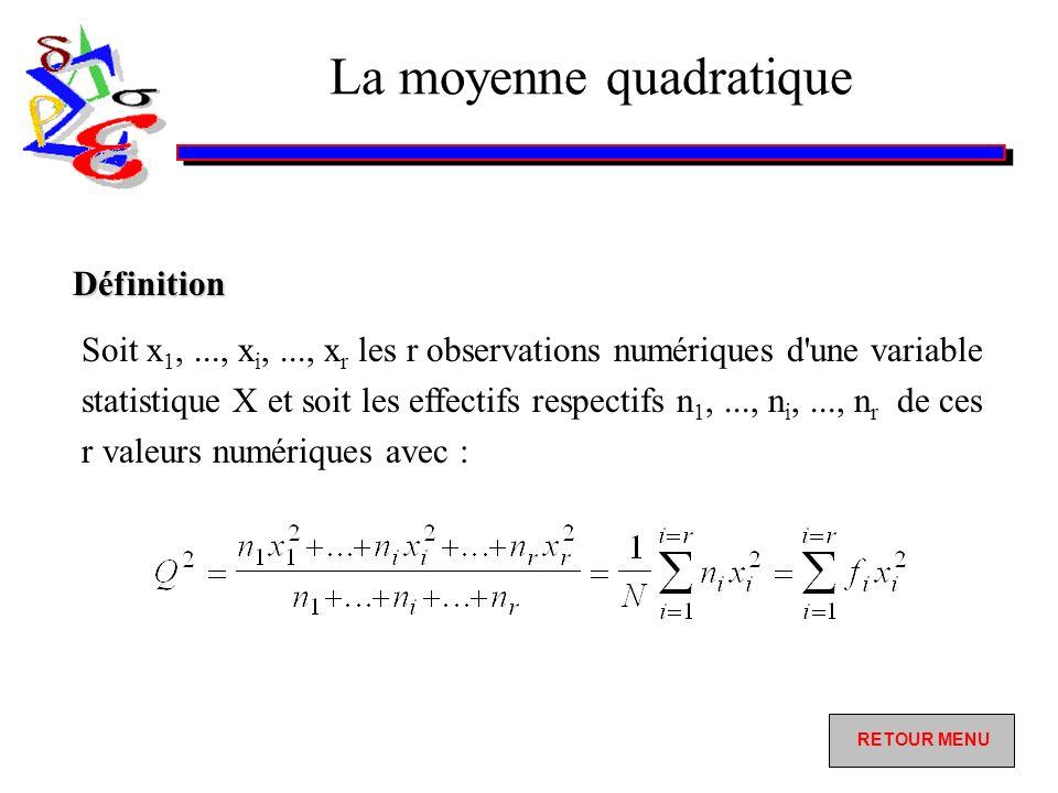 La moyenne quadratique
