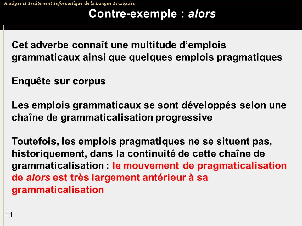 Contre-exemple : alors