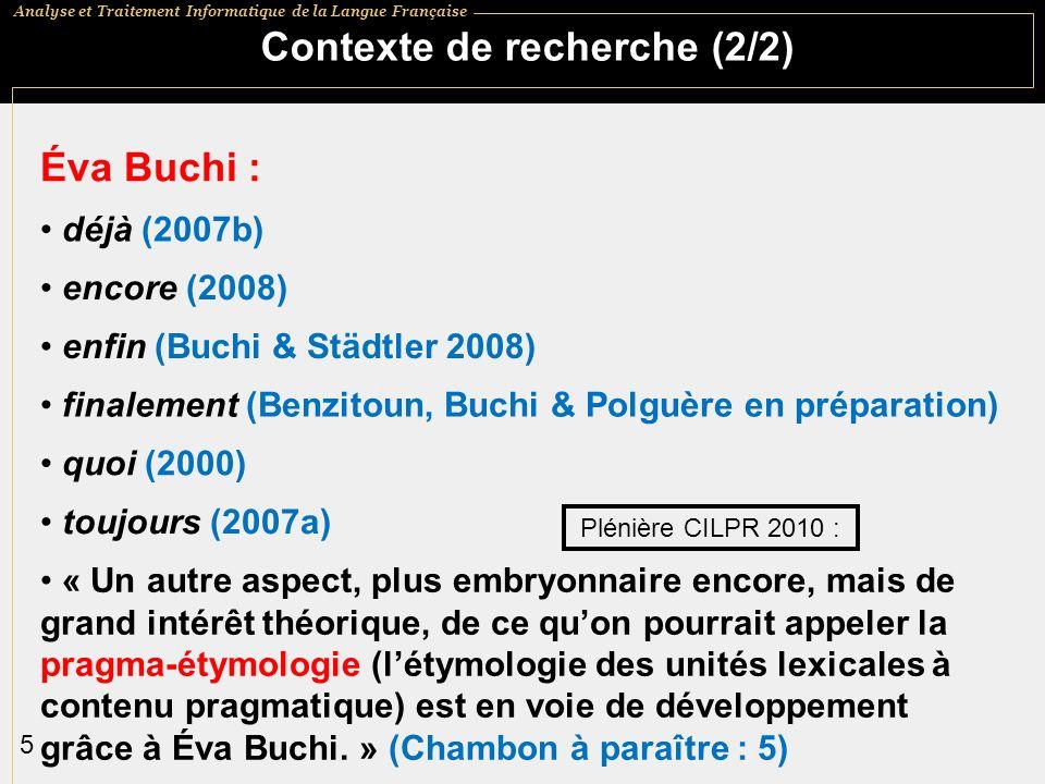 Contexte de recherche (2/2)