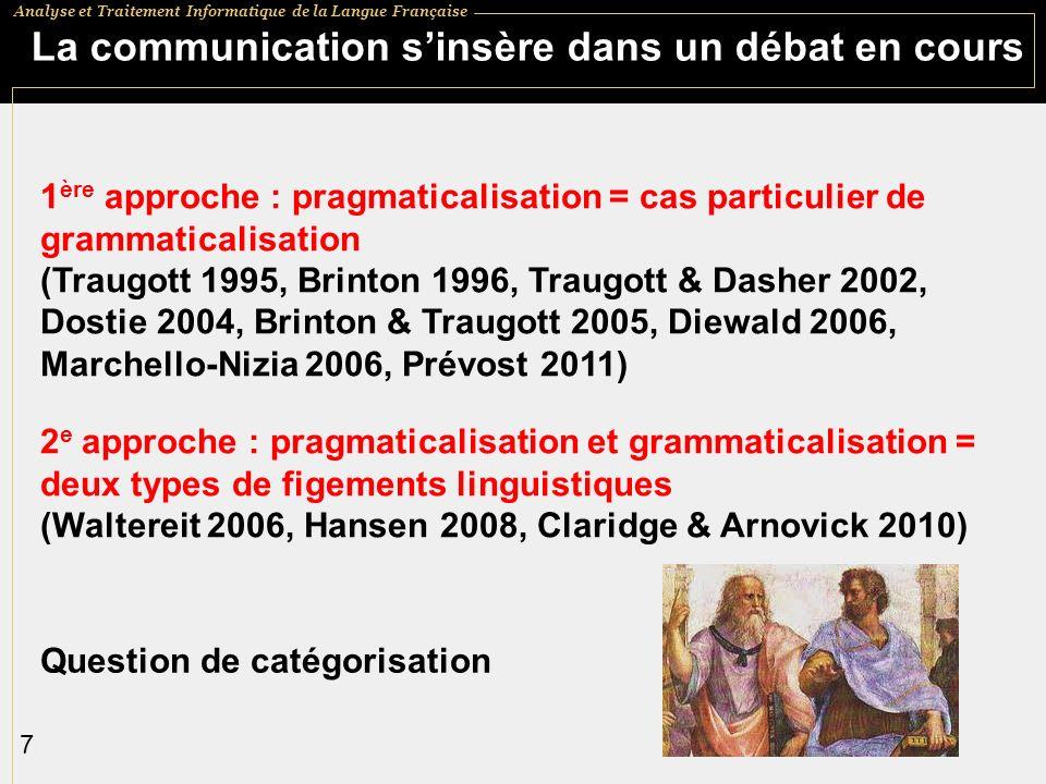 La communication s'insère dans un débat en cours