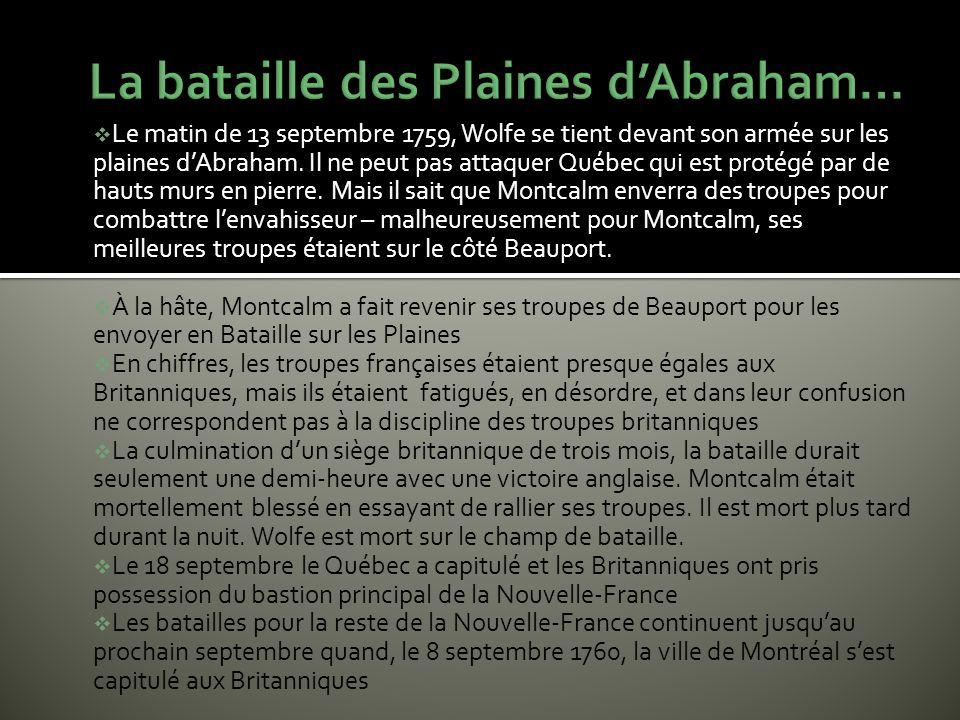 La bataille des Plaines d'Abraham…