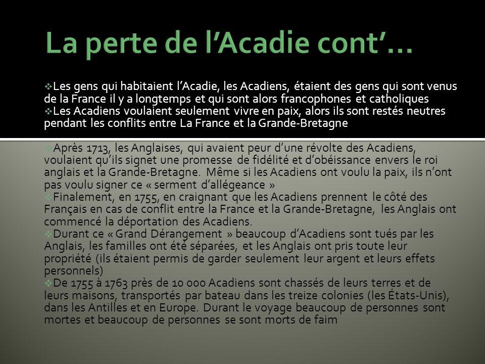 La perte de l'Acadie cont'…