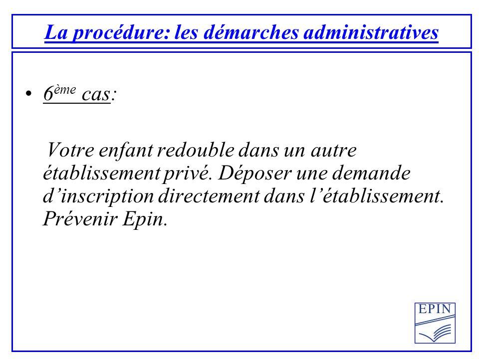 La procédure: les démarches administratives