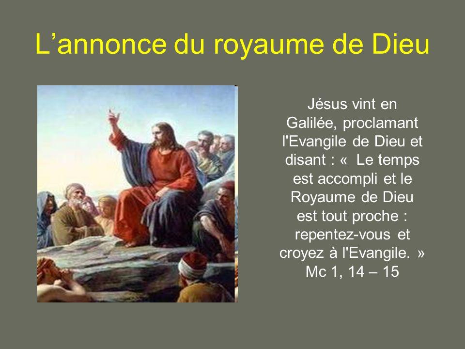 L'annonce du royaume de Dieu