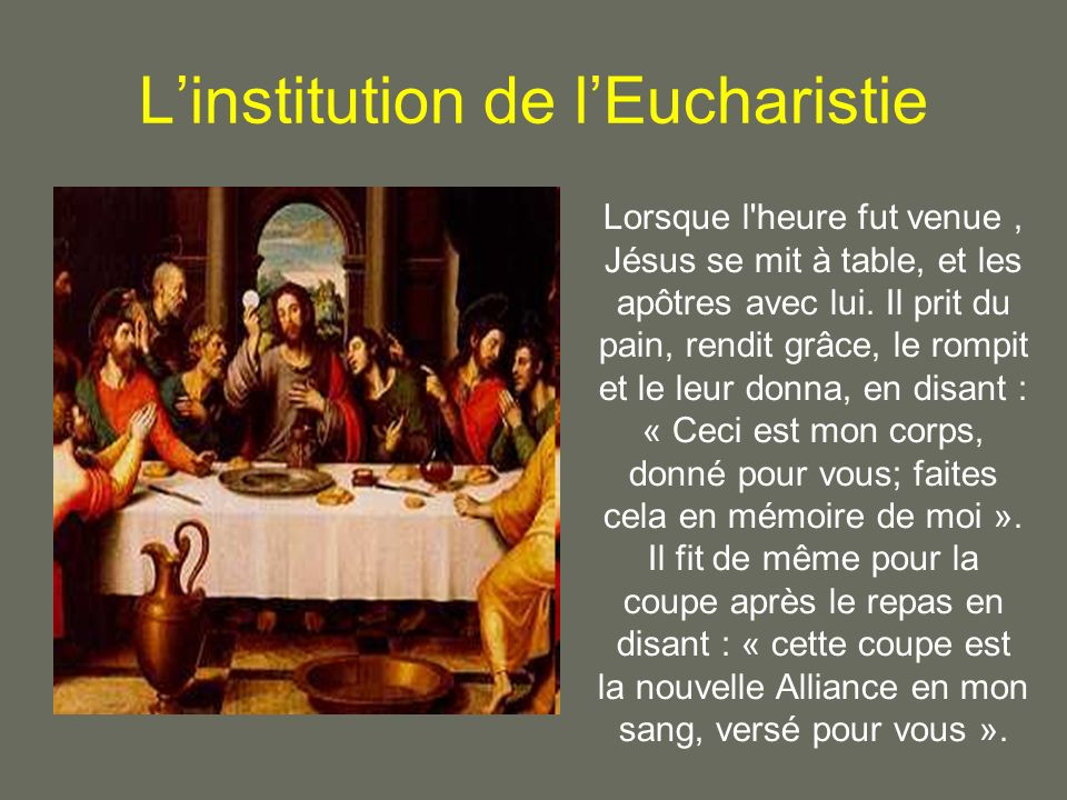 L'institution de l'Eucharistie