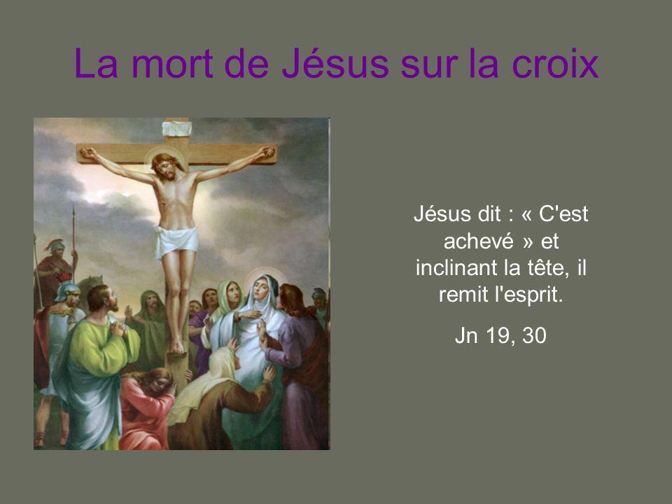 La mort de Jésus sur la croix